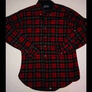 Pendleton Authentic Cluny Red Tartan plaid shirt